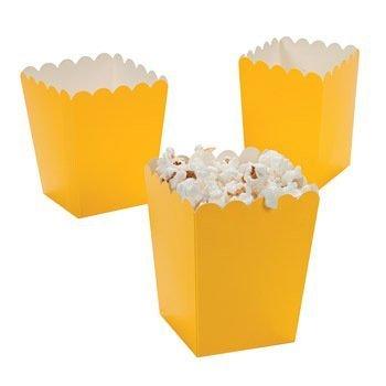 Mini Popcorn Boxes - Yellow - Teacher Resources & Birthday Supplies by Oriental Trading Company, Mini Popcorn Boxes - Yellow. By Fun Express for $<!---->
