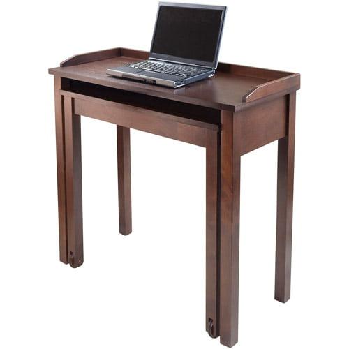 Kendall Rollout Laptop Desk, Antique Walnut