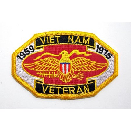 Vietnam Veteran 1959 - 1975 War Embroidered Military Patch Iron or Sew AKPM107