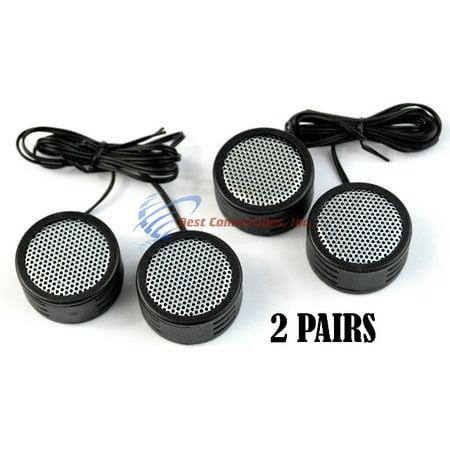 2 PACK 500w High Frequency Car Truck  Stereo Super Tweeters Built-in Crossover