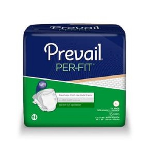 Prevail Per-Fit Briefs, X-Large (59-64 Inch Waist) - Pack of 15