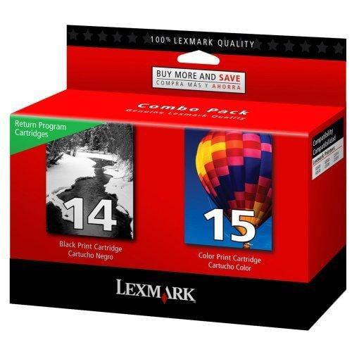 Lexmark 18c2239 #14/#15 Black/color Return Program Print Cartridge (v)
