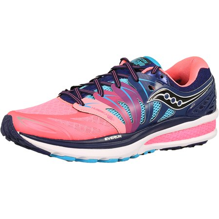 11c2686a Saucony Women's Hurricane Iso 2 Blue/Pink Ankle-High Running Shoe - 8.5M
