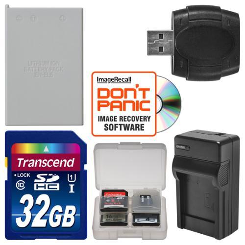 EN-EL5 Battery & Charger + 32GB SD Card Essential Bundle for Nikon Coolpix P520, P530 Digital Camera