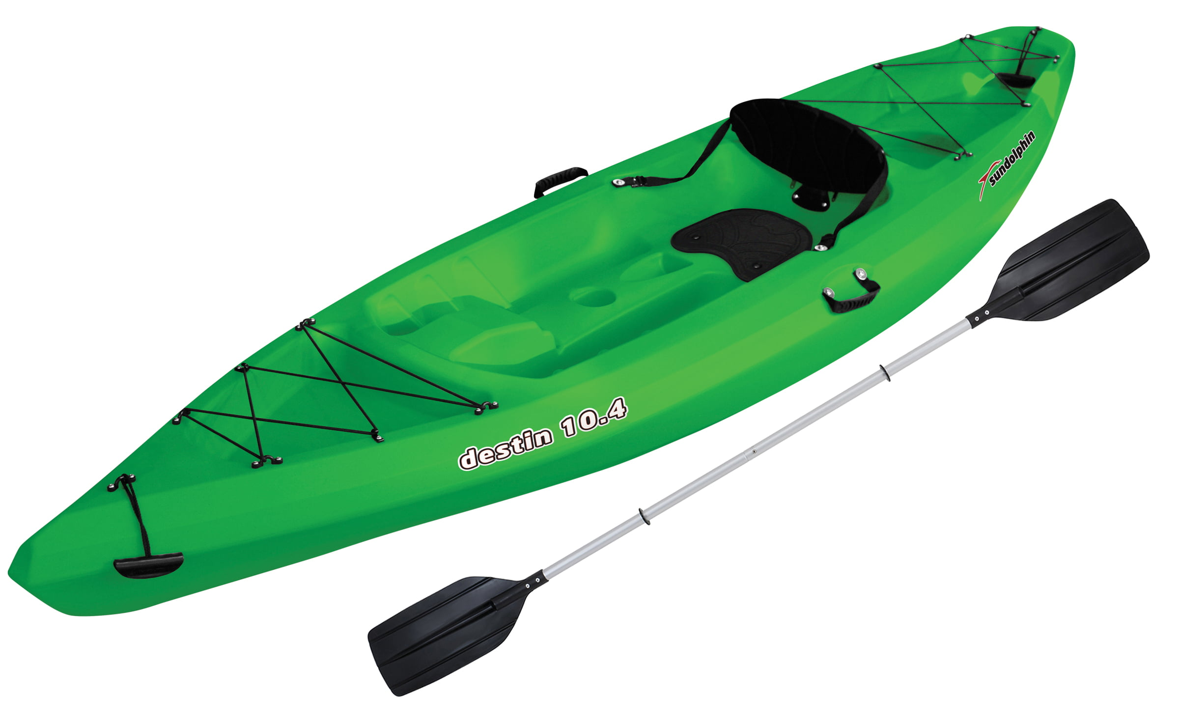 Click here to buy Sun Dolphin Destin 10.4 Sit-On Recreational Kayak, Paddle Included by KL Outdoor.