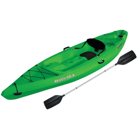 Sun Dolphin Destin 10.4 Sit-On Recreational Kayak, Paddle Included