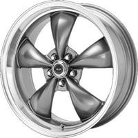 American Racing torq thrust m 16x7 5x114.3 35et 72.60mm anthracite machined lip wheel