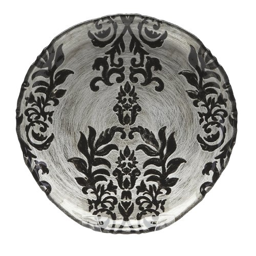 Red Pomegranate Damask 9'' Salad Plate