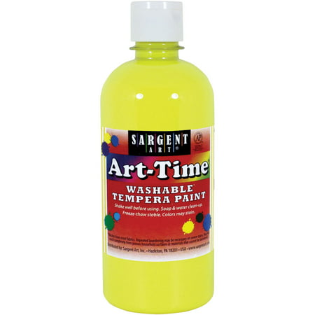 Sargent Art Tempera Neon Yellow Paint, 16 Oz. - Neon Splatter Paint
