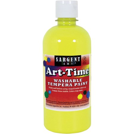 Sargent Art Tempera Neon Yellow Paint, 16 Oz. - Neon Face Paint Patterns