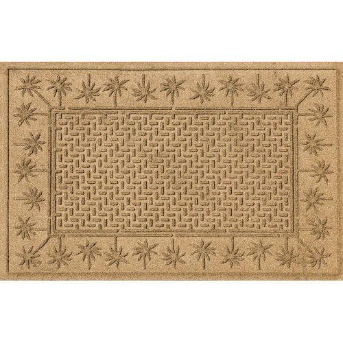 Bungalow Flooring Aqua Shield Island Palms Doormat