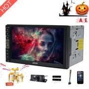 HD 1024*600 7 Inch Capacitive Touch Screen Audio (Mirror Link for GPS of Android Phone) Double 2 Din Bluetooth Car Stereo In Dash Video Auto radio Without DVD Player+Rear View Camera