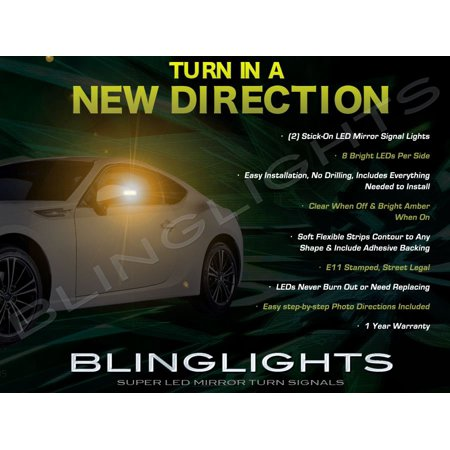 Toyota GT-86 86 LED Side View Mirrors Turnsignals Lights Mirror Turn Signals Lamps Signalers 86 Lamp Side Park Car