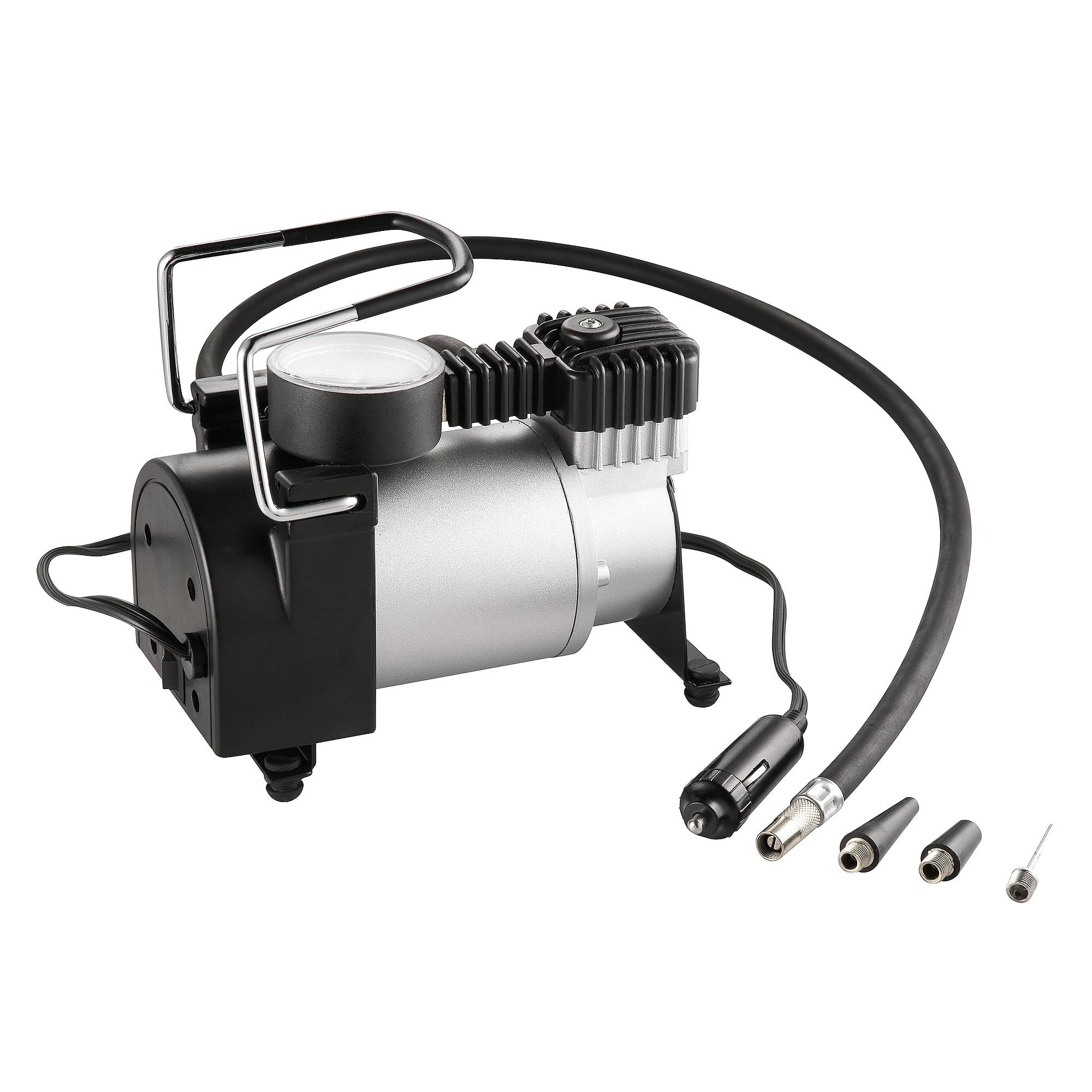 RAD Sportz 12 Volt Electric Air Captain Air Compressor w/ Gauge for Bike or Auto