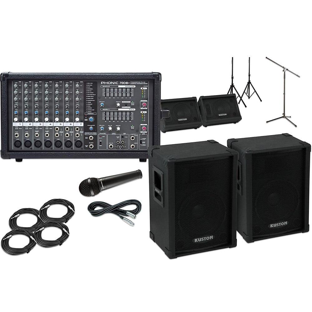 Kustom PA KPC12 with Phonic Powerpod 780 Mains and Monitors Package by Kustom PA
