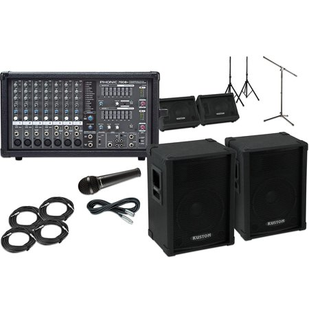 Kustom PA KPC12 with Phonic Powerpod 780 Mains and Monitors Package