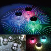 Solar Floating Light for Pool Pond Waterproof ABS Plastic with Color Changing LED Solar Light Globe Night Light Lamp Garden Swimming Pool Party Home Decor (1 Pack, Diameter:11cm)