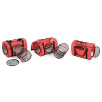 Red Large Cat Carrier Bag W/ Tunnel - Soft Pet Carrier