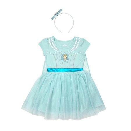 Frozen Costume Tutu Dress with Headband (Toddler Girls)