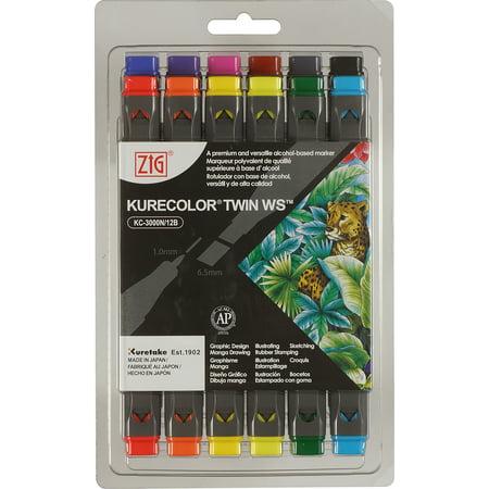 Zig Photo Twin (Kurecolor ZIG Twin WS Marker Set 12/Pkg-Basic Colors )