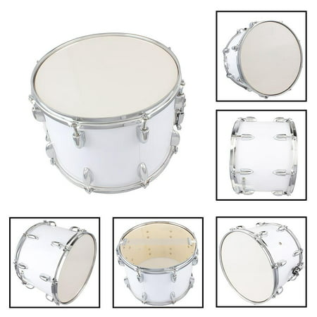 Ktaxon Student Marching Snare Drum Kids Percussion Kit White with Drumsticks Strap ()