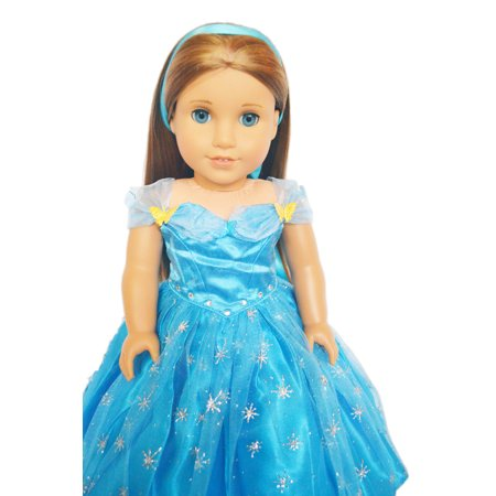 My Brittany's Cinderella Dress Fits American Girl Dolls and My Life as Dolls- 18 Inch Doll Clothes