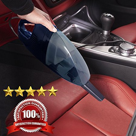 12V In Car Vacuum Cleaner powered by Vehicle DC Adapter - Wet and Dry Portable Handheld Unit