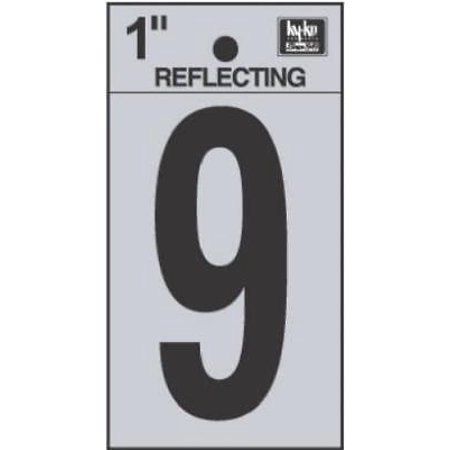 1 Quot Black Reflective Adhesive Vinyl Number 9 Silver