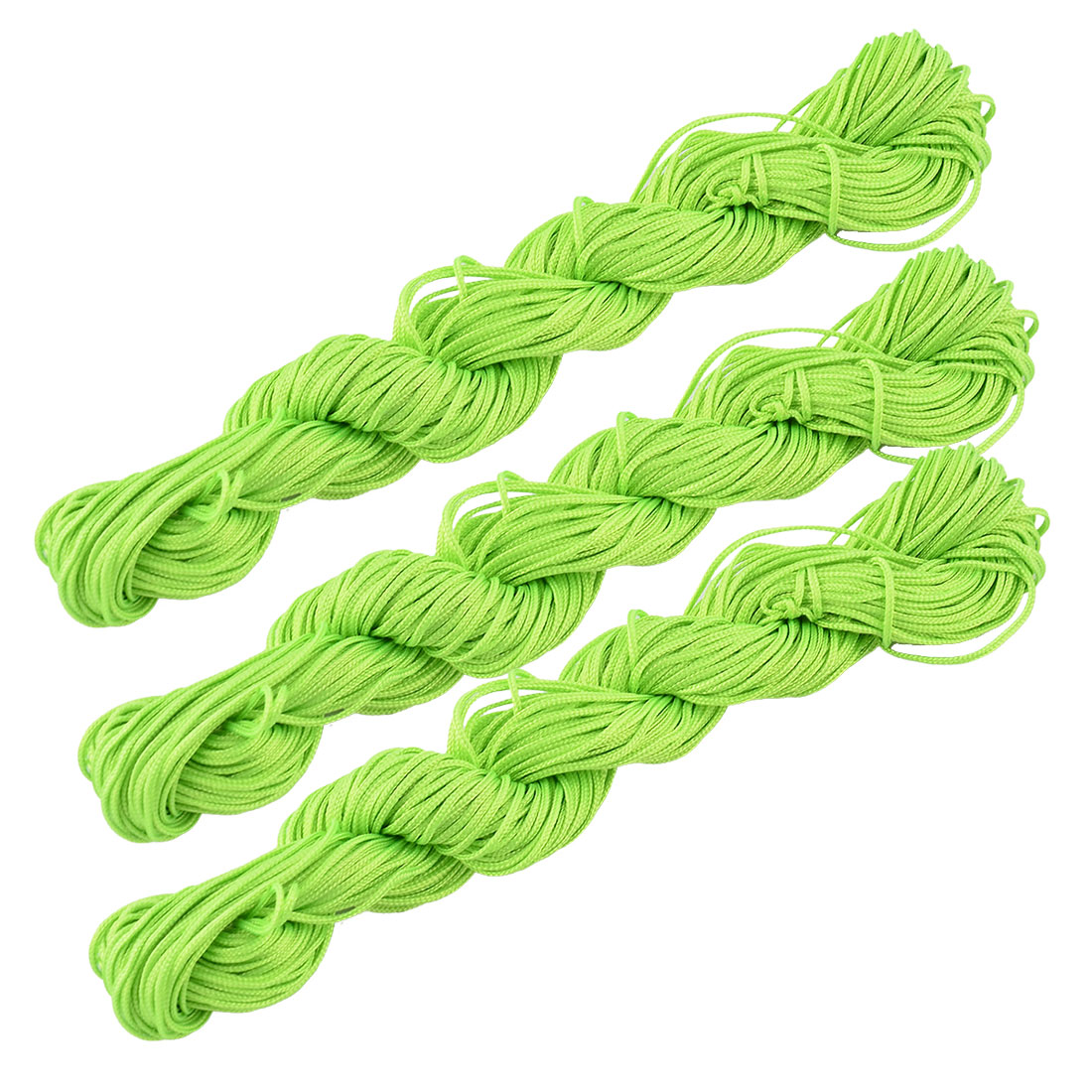 Polyester DIY Chinese Knot Bracelet Rattail Cord Rope Light Green 31 Yards 3pcs