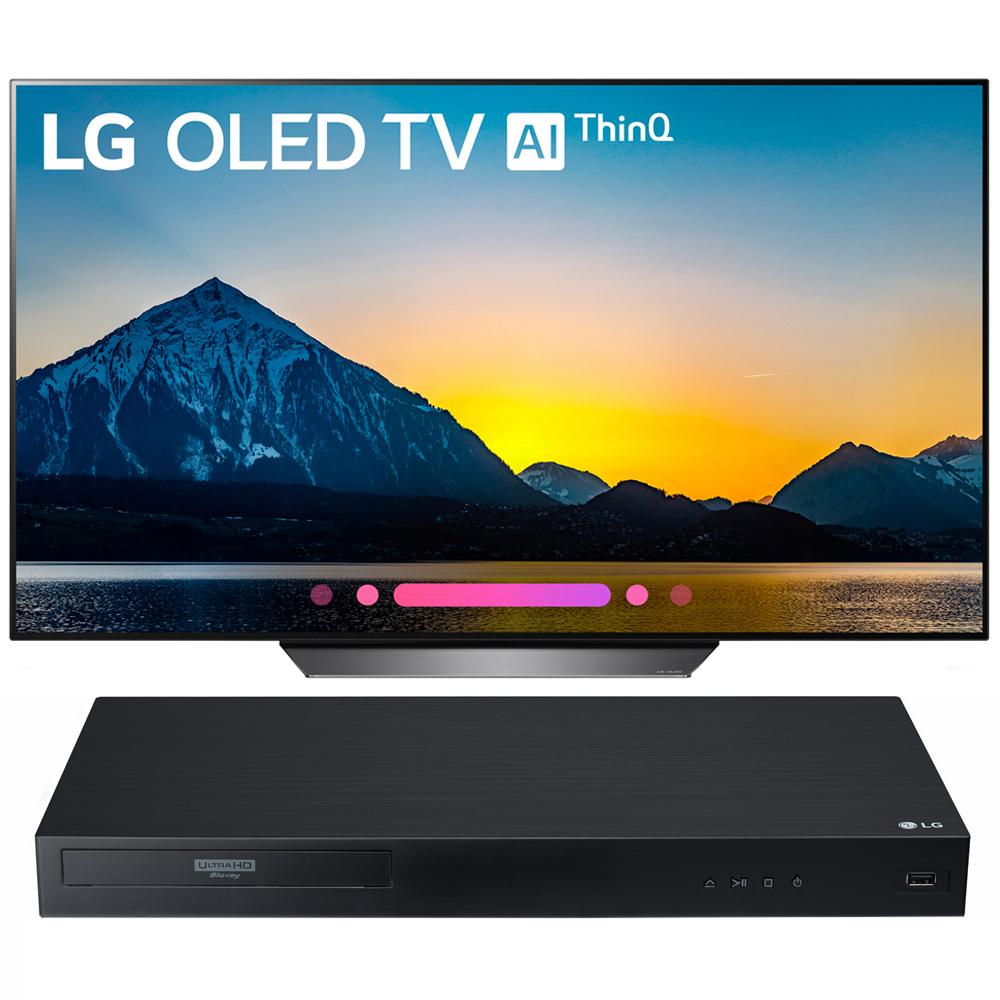 "LG 55"" Class B8 OLED 4K HDR AI Smart TV 2018 Model + 4k Ultra-HD Blu-Ray Player"