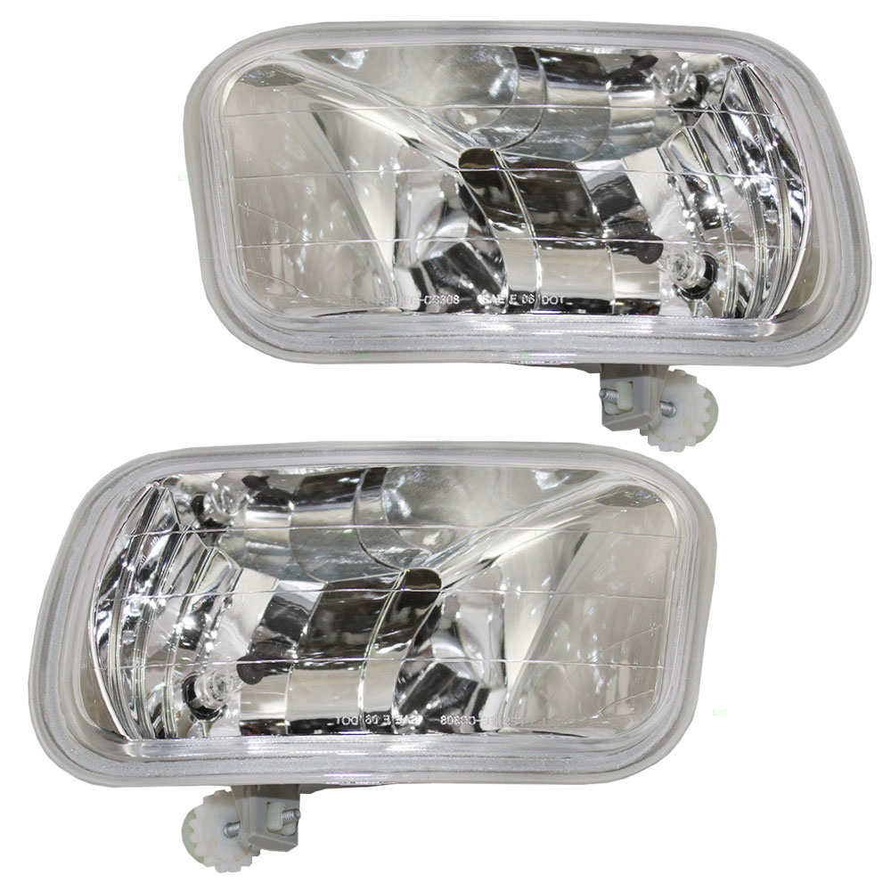 Pair Set Fog Lights Lamps Replacement for 09-18 Dodge RAM Pickup Truck 55372735AB 55372734AB