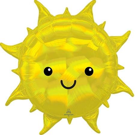 Sun Flower Iridescent Yellow Balloon 27