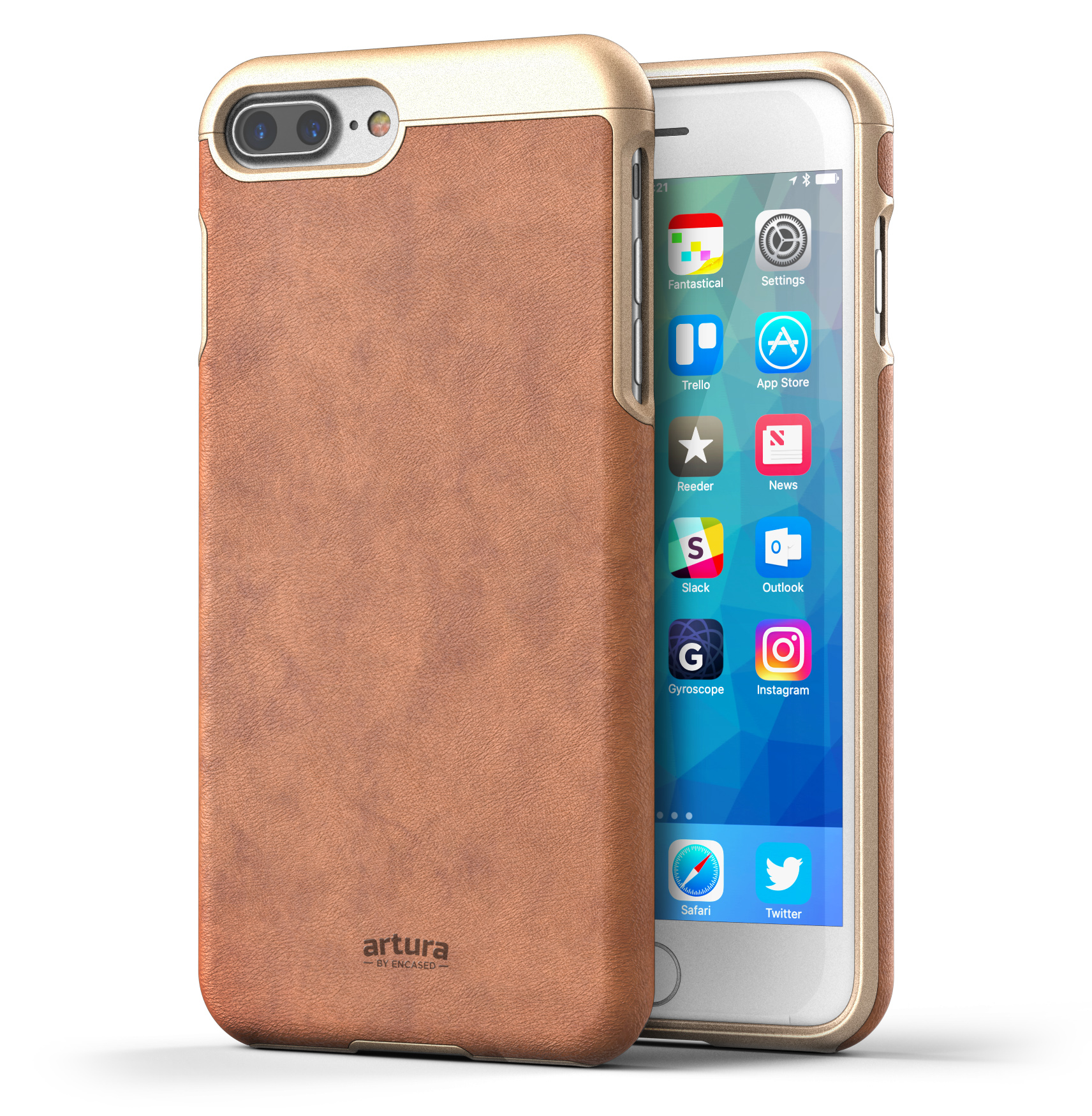 "iPhone 7 Plus (5.5"") Premium Vegan Leather Case - Artura Collection By Encased"