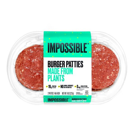 Impossible Burger Patties Made from Plants, 2 ct, 1/2 lb