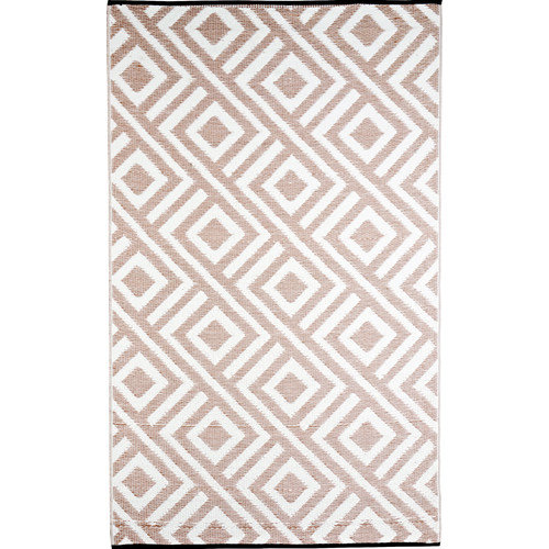 b.b.begonia Malibu Reversible Design Beige/White Outdoor Area Rug