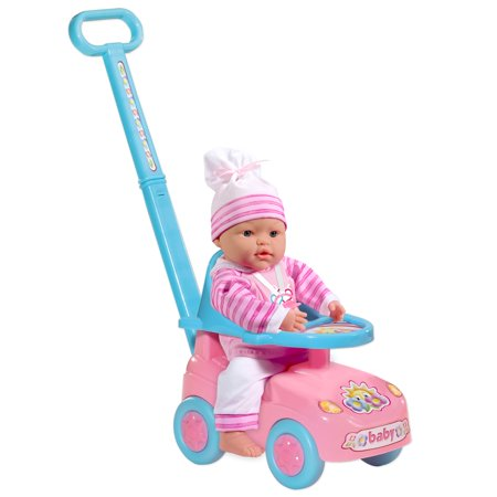 Loko Toys - Sweet Baby Doll With Baby Walker Buggy Playset
