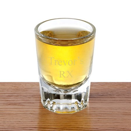 Personalized Distinction Shot Glass - Personalized Shot Glass No Minimum