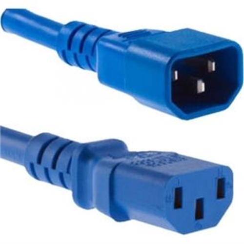 2FT BLUE 105JACKET C13-C14 SVT UL 10AMP 18AWG POWER CORD