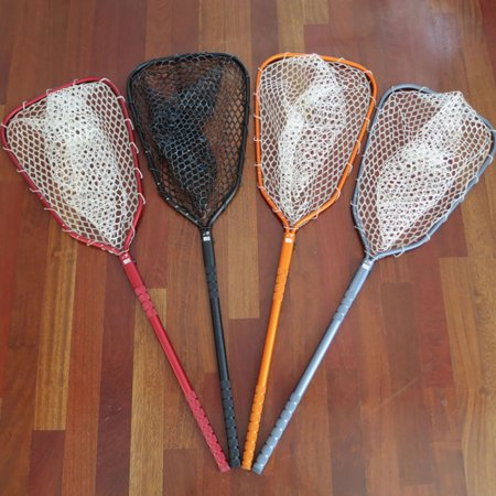 Rising Lunker 24 Net  Fly Fishing Knurled Aluminum Handle Marked Hoop