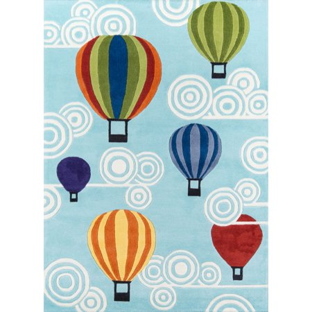 Momeni Lil Mo Whimsy Hot Air Balloons Area Rug (Best Rum For Hot Toddy)