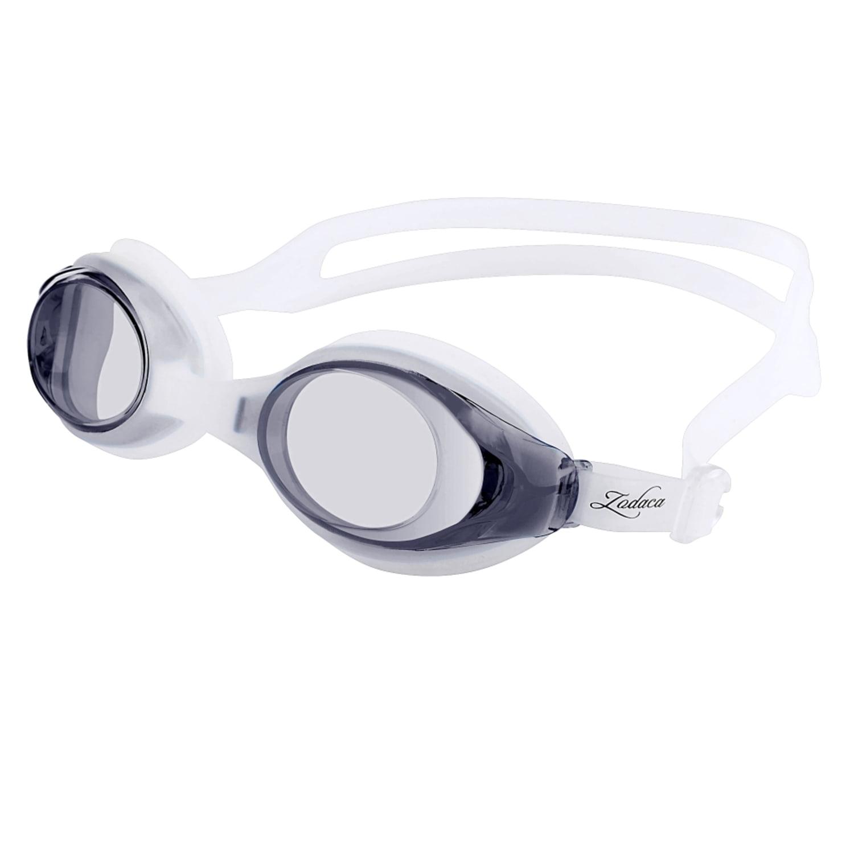 Zodaca Kids Child Adjustable Non-Fogging Anti UV Swim Swimming Goggles Glasses Black (with Storage Case & Ear plugs ) by