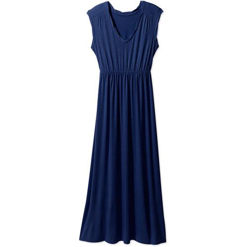 Faded Glory Women's Twisted Neck Maxi Dress