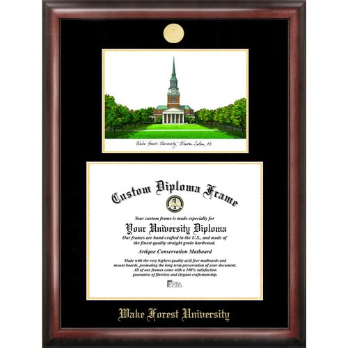Baylor University 11 X 14 Gold Embossed Diploma Frame With Campus Images Lithograph Walmart Com Walmart Com