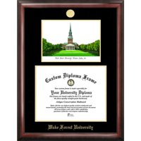 "Wake Forest University 11"" x 14"" Gold Embossed Diploma Frame with Campus Images Lithograph"