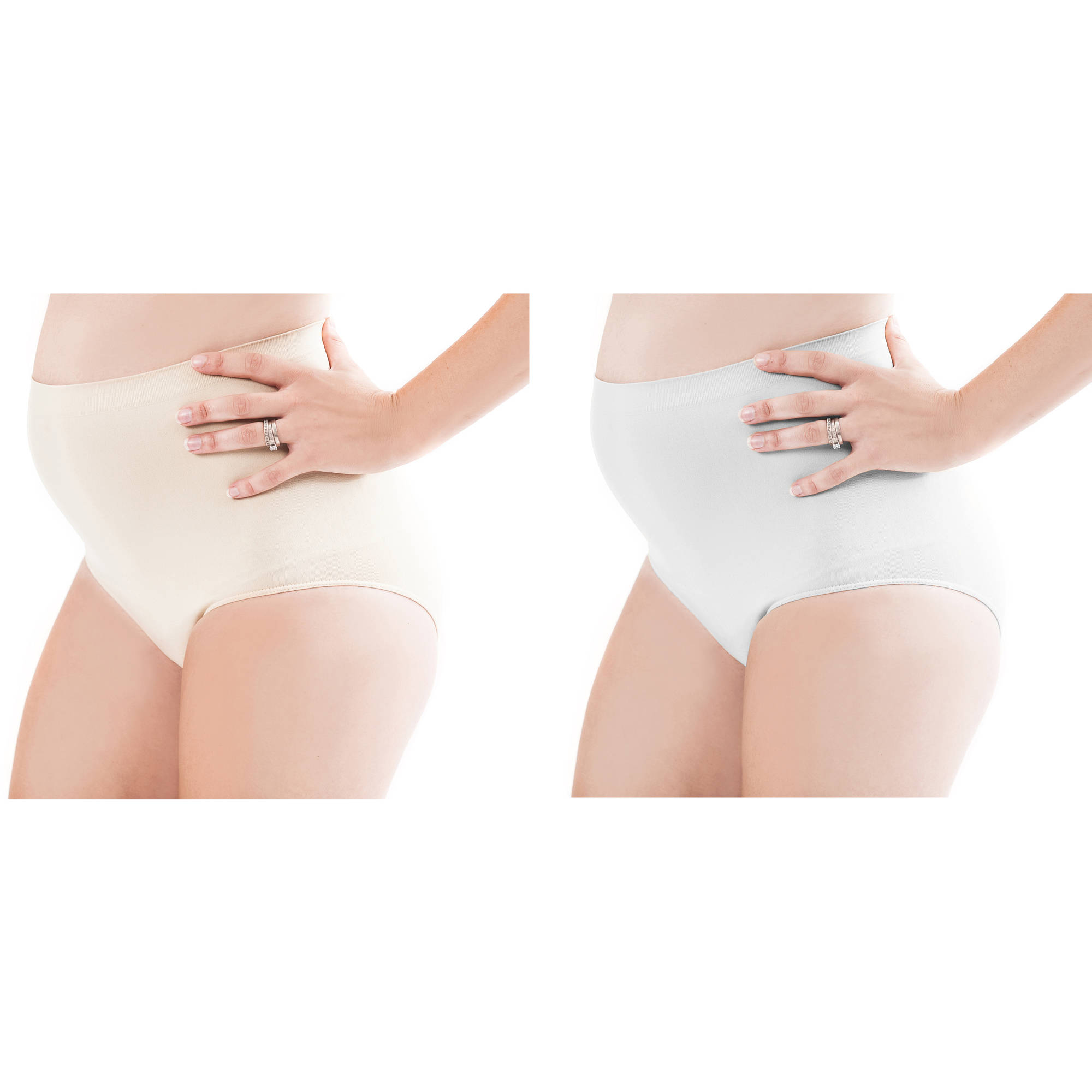 3204c4c780656 Labor of Love - Maternity Seamless Full Panel Briefs--Available in Plus  Sizes