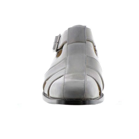 Closed Toe Fisherman Sandal - Stacy Adams Mens Calisto Buckle Closed Toe Fisherman Sandals, Grey, Size 13.0