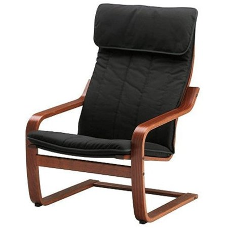 Ikea Poang Chair Armchair with Cushion, Cover and Frame 38214.52929.106 ()