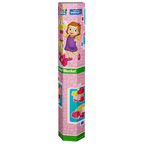 Mega Bloks Tub, Pink, 100 Pieces