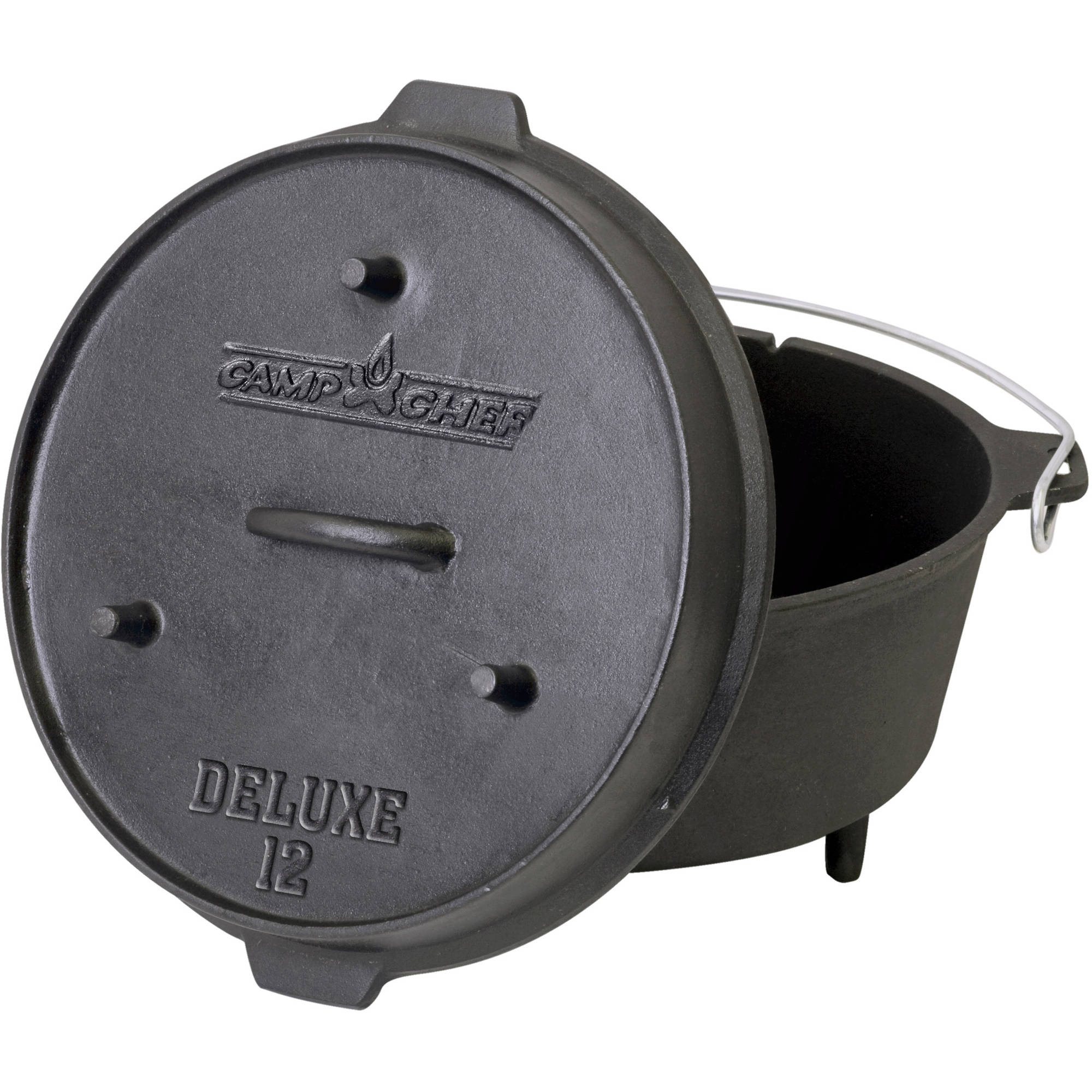 Camp Chef Pre-Seasoned 9-1/3-Quart Cast Iron Dutch Oven