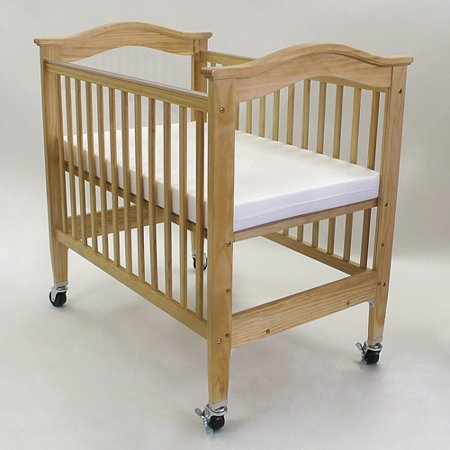 L A  Baby Berkshire Mini Portable Crib With Mattress Brown